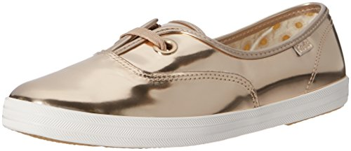 Keds Women's Breeze Metallic Patent Fashion Sneaker, Champagne, 5 M US