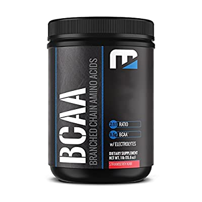 100% All Natural BCAA Powder- Best Branched Chained Amino Acid Supplement- Aids in Fat Loss, Muscle Building, Energy and Exercise Recovery- Taste Great: Strawberry Kiwi - By Morellifit