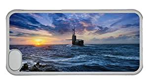 Cheap thin iphone 5C case Submarine surfaced sea sunset PC Transparent for Apple iPhone 5C