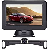 LeeKooLuu 2020 HD Backup Camera and Monitor Kit OEM Driving Hitch Rear/Front View Observation System for Cars,Trucks,Vans,Campers Waterproof Super Night Vision DIY Grid Line
