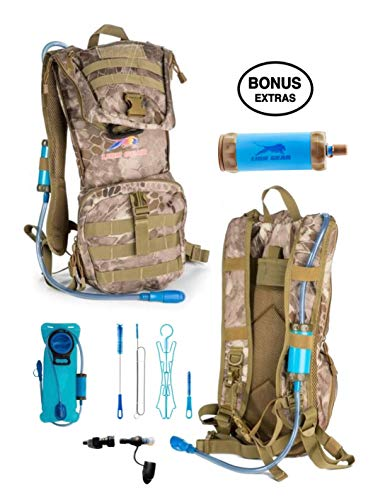 Lion Gear Insulated Hydration Survival Backpack with 2L Water Bladder with Filter – Heavy Duty, Waterproof, Weather Resistant, Extra Storage – Military, Outdoor, Backcountry Camo Assault Rucksack Review