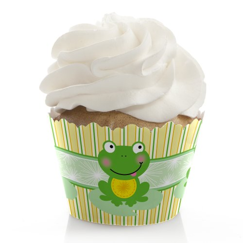 Froggy Frog - Baby Shower or Birthday Party Decorations - Party Cupcake Wrappers - Set of 12
