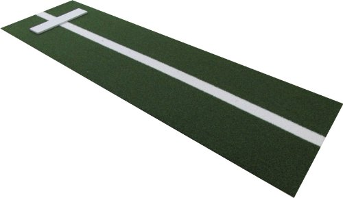 (All Turf Mats PB36120GREEN 3' x 10' XL Green Nylon Softball Pitchers Pitching Mound with 5mm Foam Power Line)