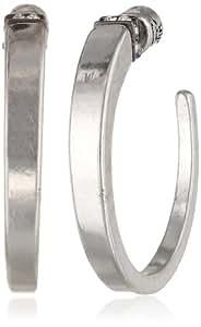 Kenneth Cole New York Crystal Sculptural Hoop Earrings