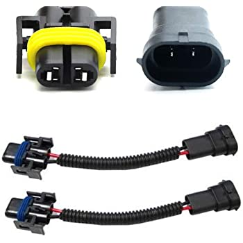 ijdmtoy (2) h11 h8 h9 extension wiring harness sockets wires for headlights  or fog