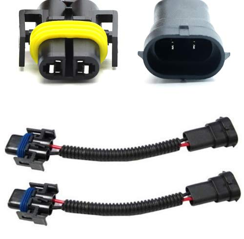 iJDMTOY (2) H11 H8 H9 Extension Wiring Harness Sockets Wires For Headlights or Fog Lights Use