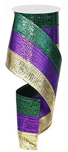 Metallic 3 in 1 Wired Edge Ribbon, 4