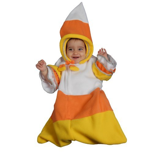 [Dress up America Baby Candy Corn Costume Set for (0-12 Months) by Dress Up America] (Baby Corn Bunting Costumes)