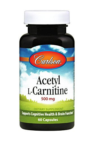 Carlson Acetyl L Carnitine 500 mg Cognitive Health Energy Support