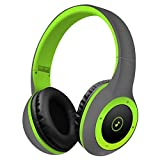 Wireless Bluetooth Headsets,WONFAST Over-ear Hifi Stereo Sound Music Sport Bluetooth 4.0 Headphones Build in Mic for iPhone/iPad/Android Support TF Card (Grey/Green)