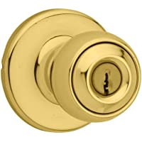 Kwikset 450P Kwikset Security Series Polo Storeroom Function Keyed Entry Door Kn, Polished Brass by Kwikset