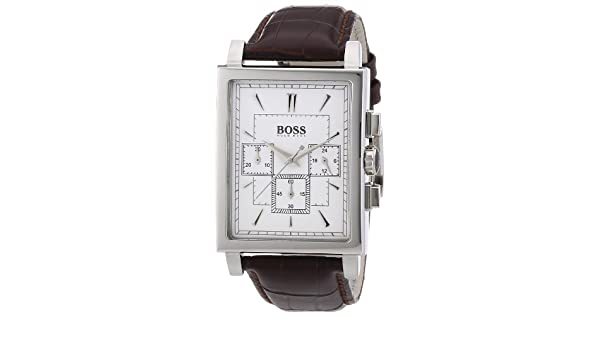 Amazon.com: Hugo Boss Chronograph White Dial Leather Mens Watch 1512872: Hugo Boss: Watches