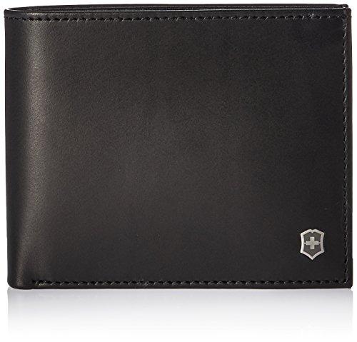 Victorinox Mens Altius Edge Zenon Bi-fold Wallet with RFID, black leather L