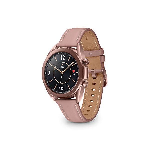 Samsung Galaxy Watch3 Smartwatch Bluetooth, cassa 41mm acciaio, cinturino pelle, Saturimetro, Rilevamento cadute… 1