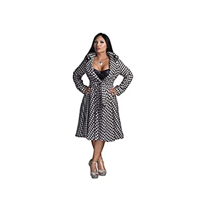 AB Butter Women's Premium Curvy Hourglass Shape Classic Double Breasted Dress Coat Peacoat Jacket Trendy Winter Fashion: Clothing