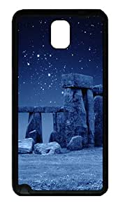 Best Top Samsung Galaxy Note 3 Cases and Covers Stone Henge Blue Designer TPU Soft Samsung Galaxy Note 3 Note III N9000 Case Cover - Black