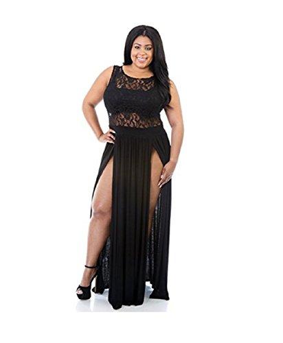 Flyfar Sexy Plus Size Reign Maxi Dress Slit Cocktai Party Dress SizeXXL