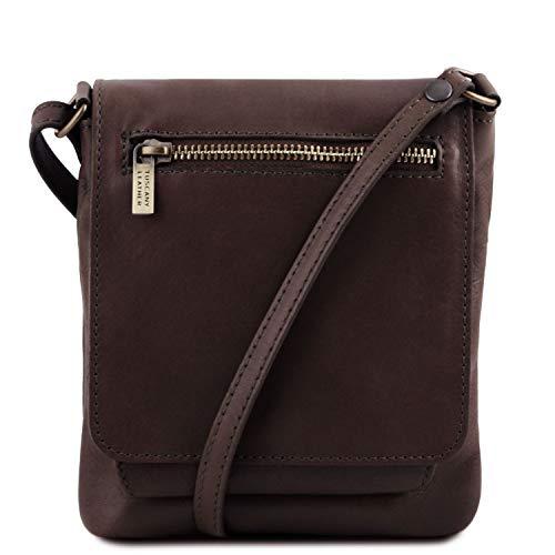 Tuscany Marrón Bolso Leather Piel en oscuro Unisex Cognac Suave Sasha pxpwT8Fr