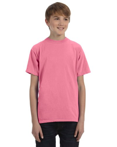 Authentic Pigment Ladies Direct-Dyed Ringspun T-Shirt 1969Y -NEON PINK L
