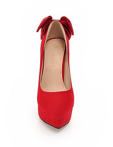 Mujer pu Cn43 Eu42 Rojo Ggx tacones Fiesta vestido Y Casual Stiletto tacones Plataforma negro tacón 5 Puntiagudos 5 Uk8 Red us10 Noche p7wUw1dq
