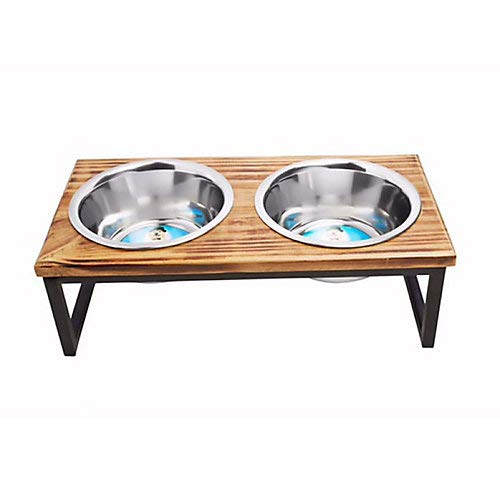 - Indipets Luxe Craft Contemporary Wooden Dog Diner 16oz