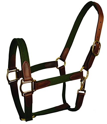 Perris Leather Hunter Beta and Cotton Safety Halter, Brown, - Cotton Perris Leather