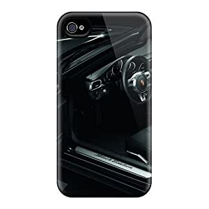YYH15720BFgW 2011 Black Porsche 911 Black Edition Interior Fashion 4/4s Cases Covers For Iphone