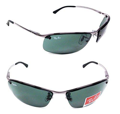 Brand New RB3183-004-71 Gunmetal Frame Green lens Metal 100%UV Made In - Lenses Rb3183