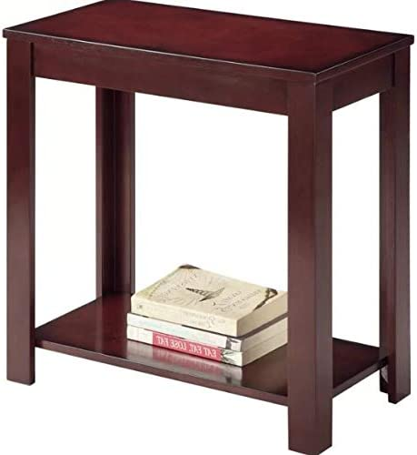 Amazon.com: Skinny End Table-Mahogany 12 Inch Wide-Smart Choice