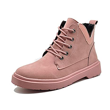 HRCxue Tacco a Spillo Martin Boots Female Short Tube British Style Thick with Thick Bottom Tie Women