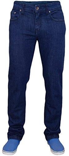 Skinny True Homme Bleu Coton Foncé Denim Jean Coupe Face Pour Extensible qR7aST