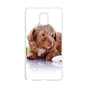 Cases For Samsung Galaxy Note 4, Puppy Dog Crawling On Ground Cases For Samsung Galaxy Note 4, Tyquin White