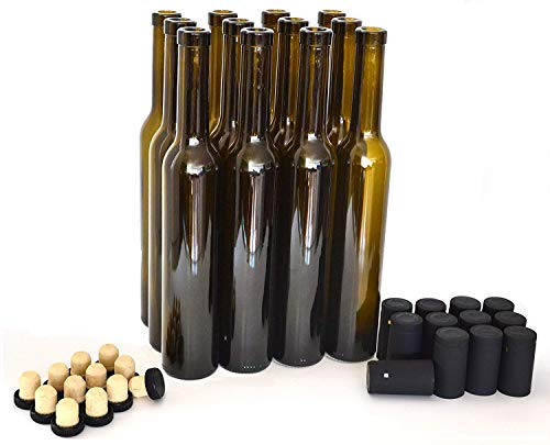 Bellissima Bottles, 375ml, Antique Green - Case of 12
