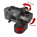 Hohem XG1 3-Axis Wearable Gimbal Stabilizer for gopro Hero 7/6/5/4/3, for DJI Osmo Action, for Action Cameras, Connected by Bluetooth (Wearable gimble)