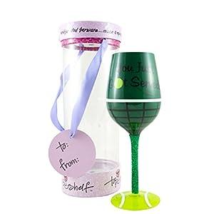 כוס יין מעוצבת בסגנון טניס - מתנה מושלמת לאוהבי הטניס והיין !