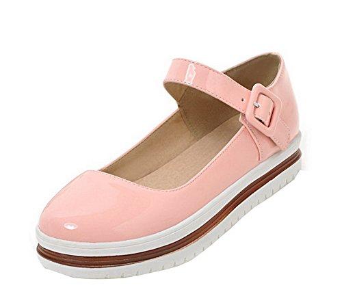 con Heel scarpe rosa con Women fibbia Pu Mini Gmxdb006953 Solid Agoolar tacco wZXIRqTF