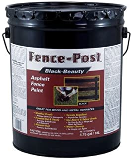 Black Beauty Asphalt Fence Paint Exterior Black 5 Gl