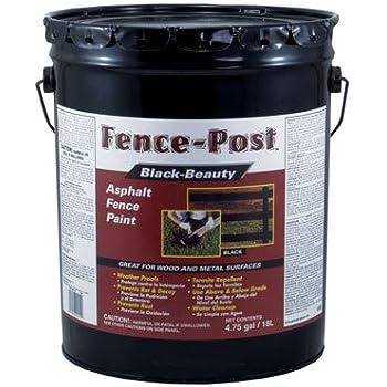 Black Beauty Asphalt Fence Paint Exterior Black 5 Gl