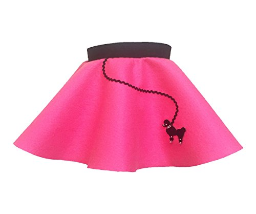 Hip Hop 50s Shop Baby and Toddler Poodle Skirt (Hot Pink, Baby)