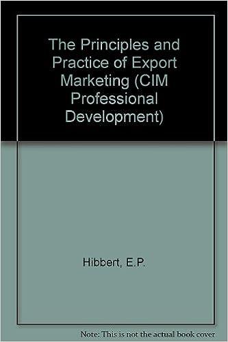 Descargar Libro En The Principles And Practice Of Export Marketing Epub En Kindle