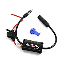 uxcell® Universal Car Auto Stereo Radio Antenna AM FM Signal Amplifier Booster Black