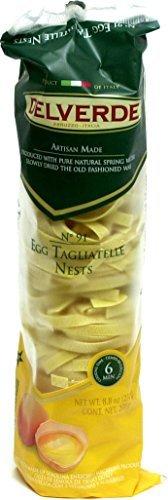 Delverde Egg Tagliatelle Nests 8.8 oz (Pack of 12) by Delverde