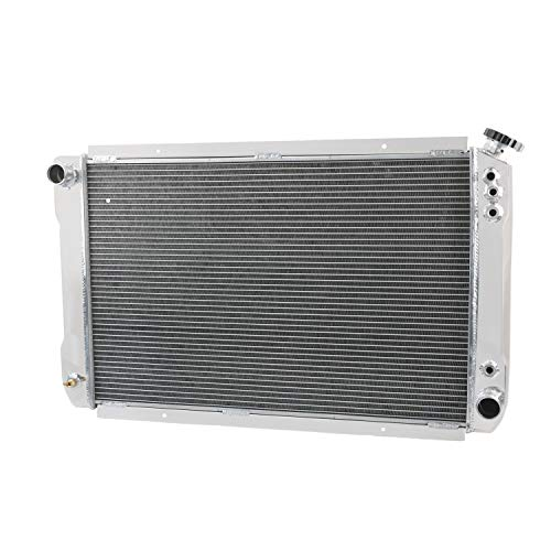 CoolingCare 56mm 2 Row Core Aluminum Radiator for Big Block Chevy&Pontiac 326-455 AT