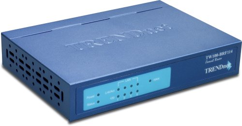 TRENDnet 4-Port Firewall Router TW100-BRF114 (Blue)
