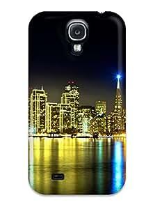 Galaxy S4 Hard Back With Bumper Silicone Gel Tpu Case Cover San Francisco Skyline