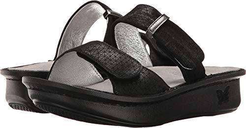 """Alegria Women's""""Karmen"""" Slide Sandal- Black Wavy- 36 M EU (6-6.5 US)"""