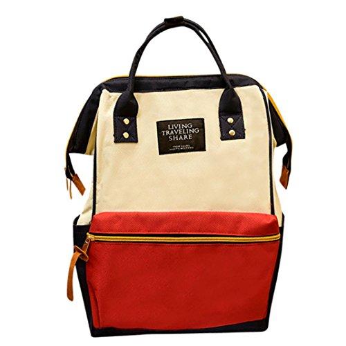 Nevera Fashion Shoulder Bags Unisex Solid Backpack School Travel Bag Double Shoulder Bag Zipper Bag (Multicolor) (Solid Fashion Zippers Double)