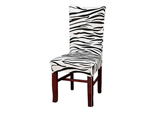 OUUD Removable Washable Chair Seat Covers Chair Slipcovers fpr Hotel Dining Room Ceremony Kitchen Bar Dining Wedding Party-Zebra -  Crazy Shop, JJ0195
