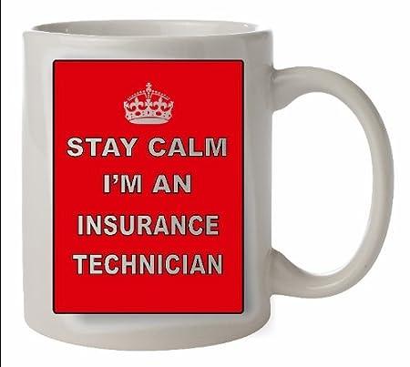 Keep Calm seguro técnico taza de cerámica - carrera taza apta para ...