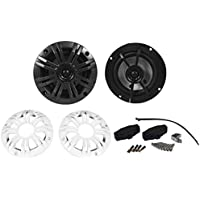 Pair Of Kicker 41KM44CW 4 150 Watts Peak/50 Watts RMS Per Speaker (300 Watts Peak/100 Watts RMS Per Pair) 4-Ohm 2-Way Coaxial Marine Speakers - ASTM Tested Weatherproof/Waterproof Withstands Marine Elements